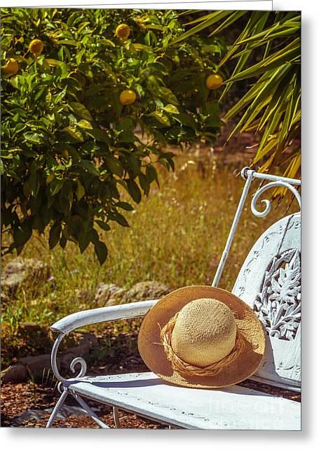Summer Straw Hat Greeting Card
