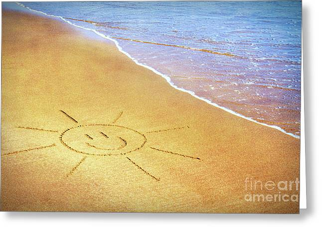 Summer Sun Greeting Card by Tim Gainey