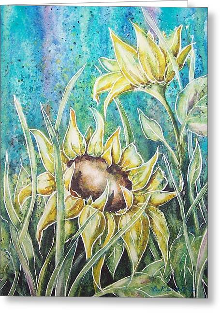 Summer Sunflowers Greeting Card