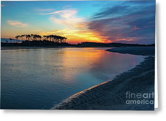 Summer Sunrise At The Inlet Greeting Card