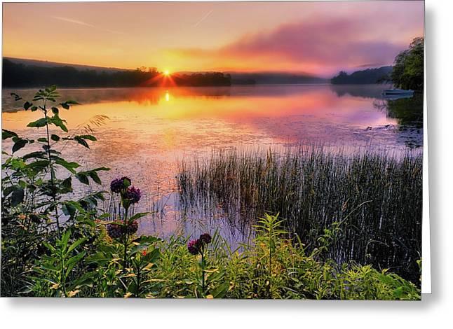 Summer Sunrise Greeting Card by Bill Wakeley