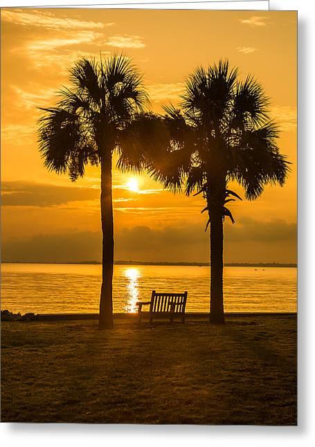 Summer Sunrise - Charleston Sc Greeting Card