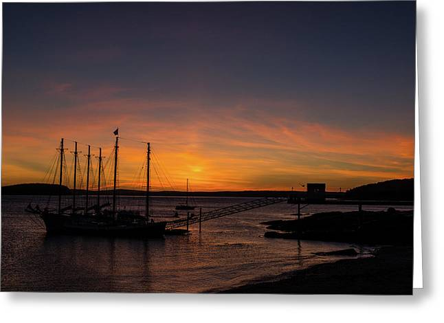 Summer Sunrise In Bar Harbor Greeting Card