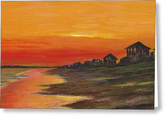 Summer Sunset At  Crystal Beach Greeting Card