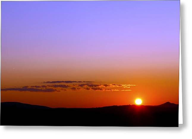 Greeting Card featuring the photograph Summer Sunset by Gary Smith