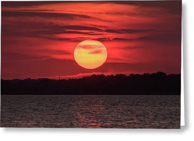 Summer Sunset July Jersey Shore  Greeting Card