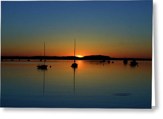 Summer Sunset Monument Beach Greeting Card