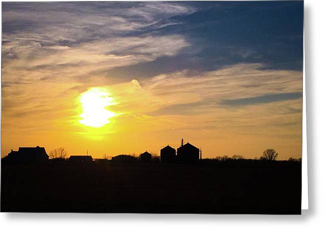 Summer Sunset On The Farm Greeting Card by Dan McCafferty