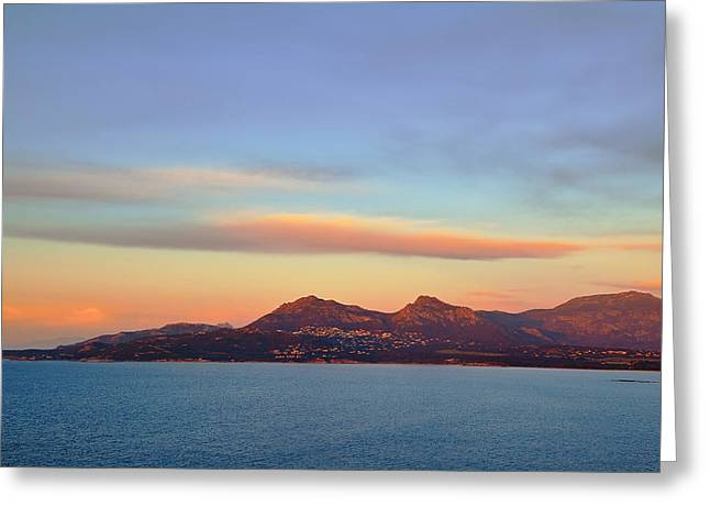 Summer Sunset On The Sea Greeting Card by Sergey Pro