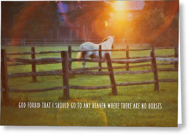 Summer Sunset Quote Greeting Card