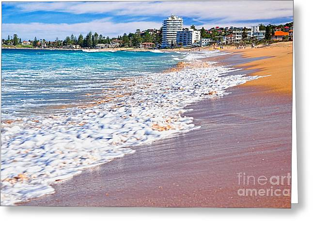 Summer Sunshine On The Waves Greeting Card by Kaye Menner