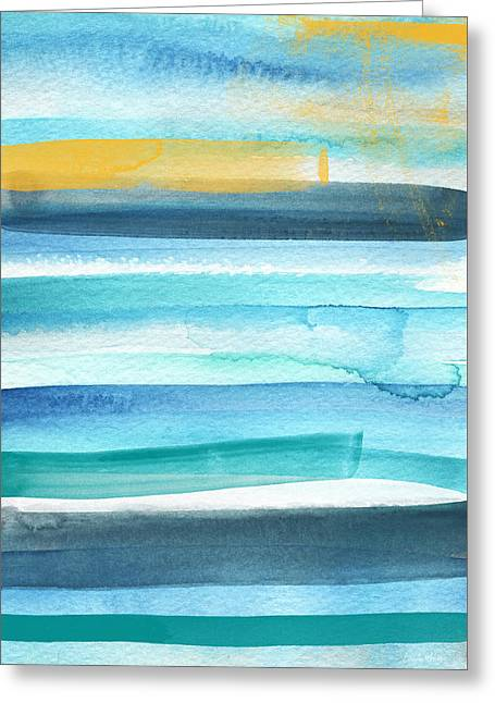 Summer Surf 2- Art By Linda Woods Greeting Card