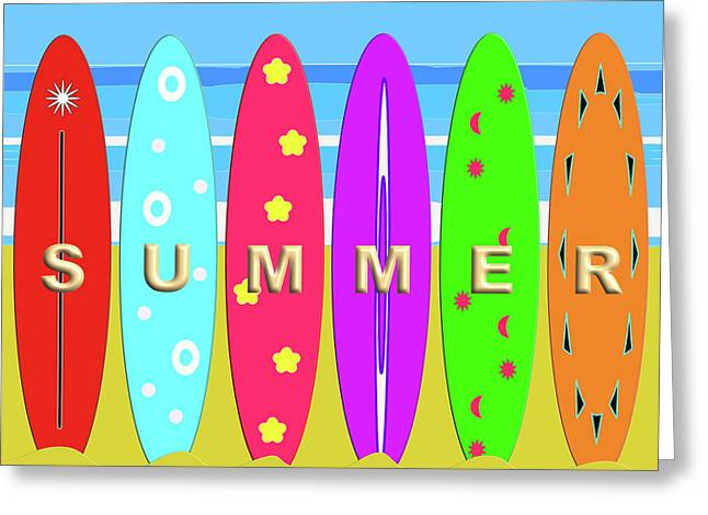 Summer Surf Greeting Card