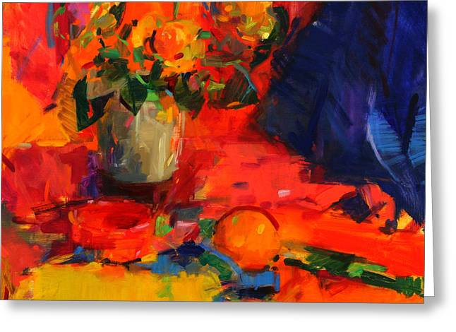 Summer Table Greeting Card by Peter Graham
