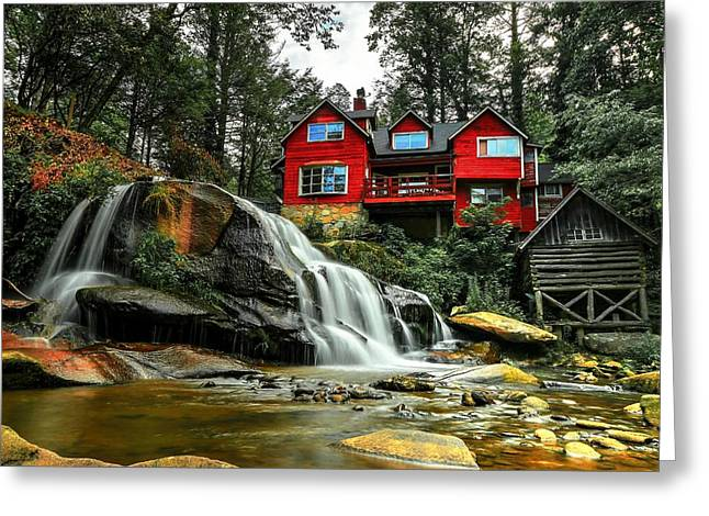 Summer Time At Living Waters Ministry And Shoals Creek Falls Greeting Card