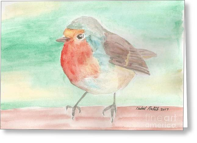 Summer Time Robin Greeting Card by Isabel Proffit