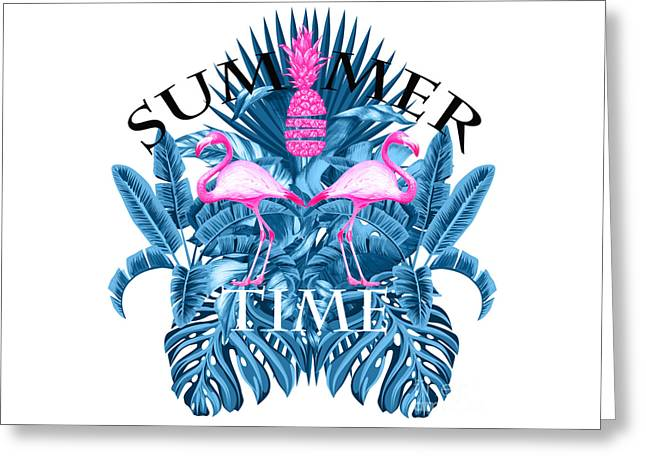 Summer Time Tropical  Greeting Card