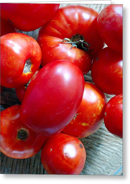 Summer Tomatoes Greeting Card