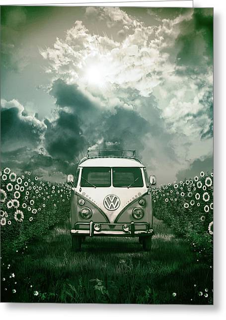 Summer Scene Greeting Cards - Summer trip 3 Greeting Card by MB Art factory
