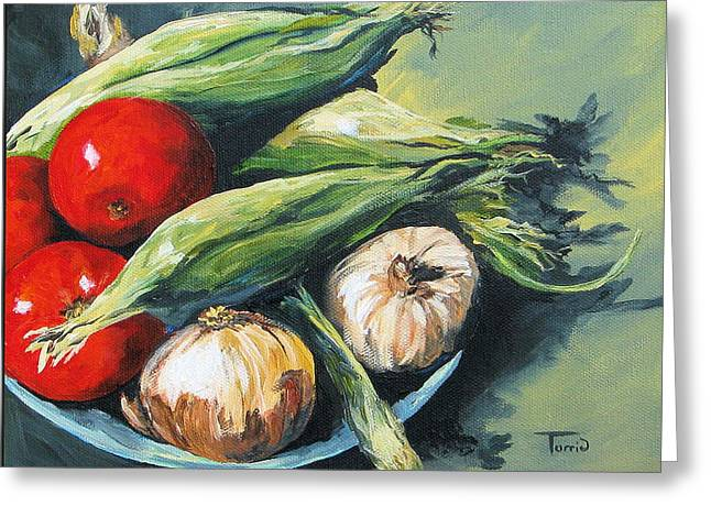 Summer Vegetables  Greeting Card by Torrie Smiley