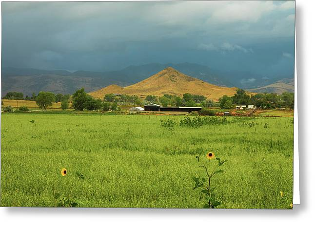 Greeting Card featuring the photograph Summer View Of  Hay Stack Mountain by James BO Insogna