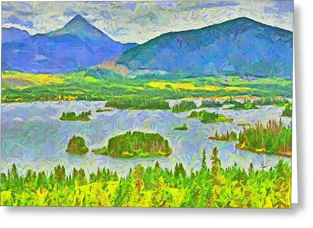 Summer View Of Lake Dillon In The Colorado Rocky Mountains Greeting Card