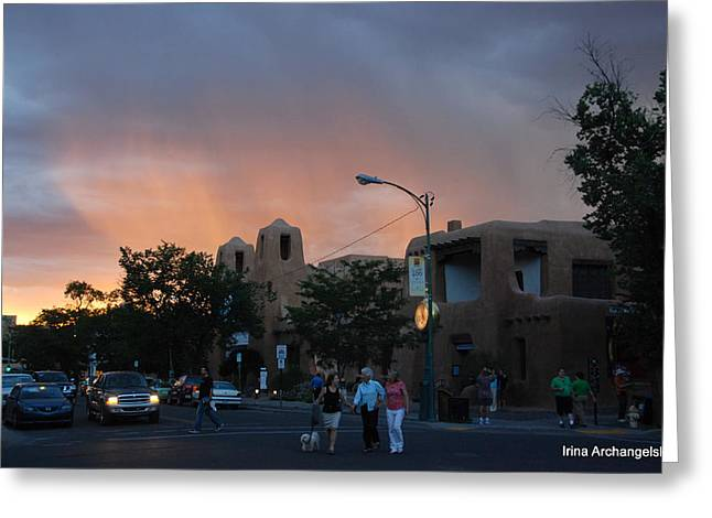 Summer Walk In Santa Fe  Greeting Card