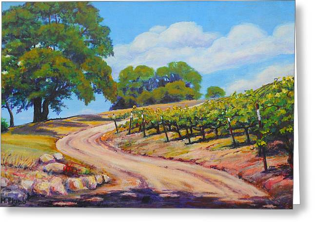 Summer Walk Greeting Card by Margaret  Plumb