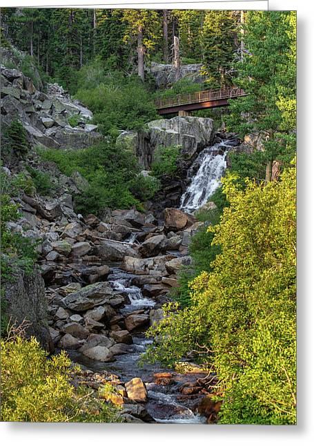 Summer Waterfall Greeting Card
