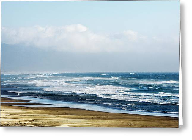 Summer Waves Netarts Oregon Greeting Card