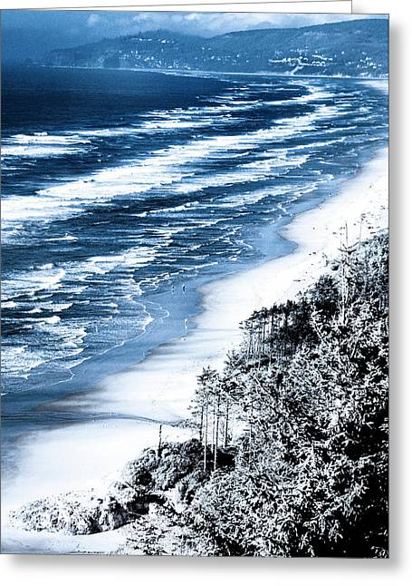 Summer Waves Cape Lookout Oregon Coast Greeting Card