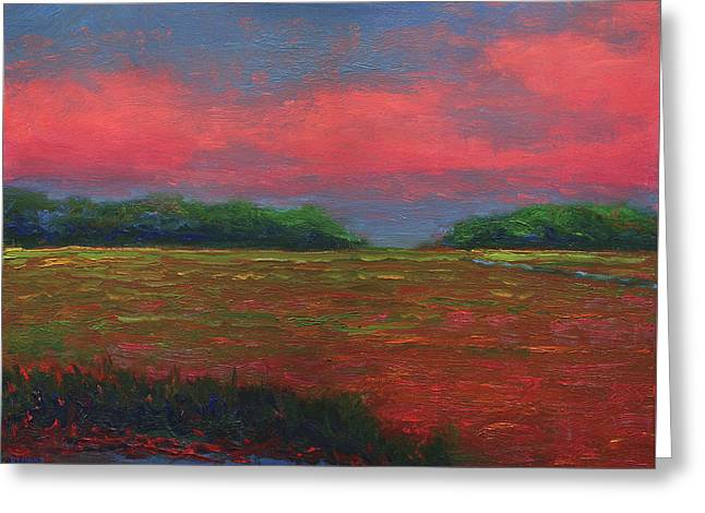 Summer Wetlands - Outlet Greeting Card by Vernon Reinike