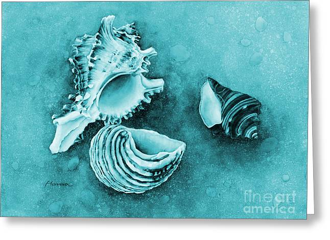 Summer Whispers On Blue Greeting Card