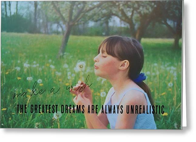 Summer Wish Quote Greeting Card by JAMART Photography