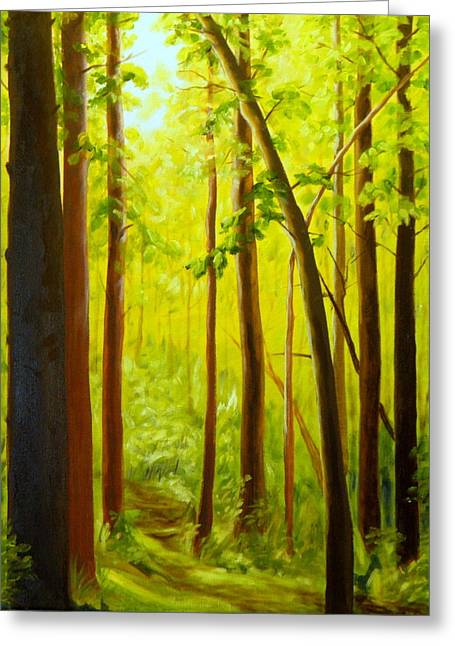 Summer Woods Greeting Card