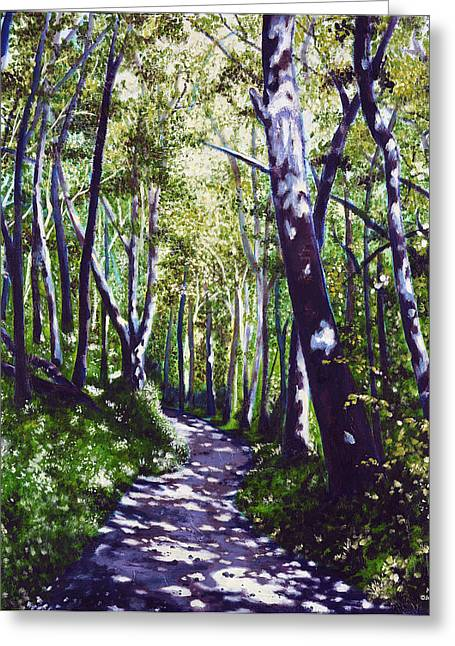 Summer Woods Greeting Card by Jerry Kirk