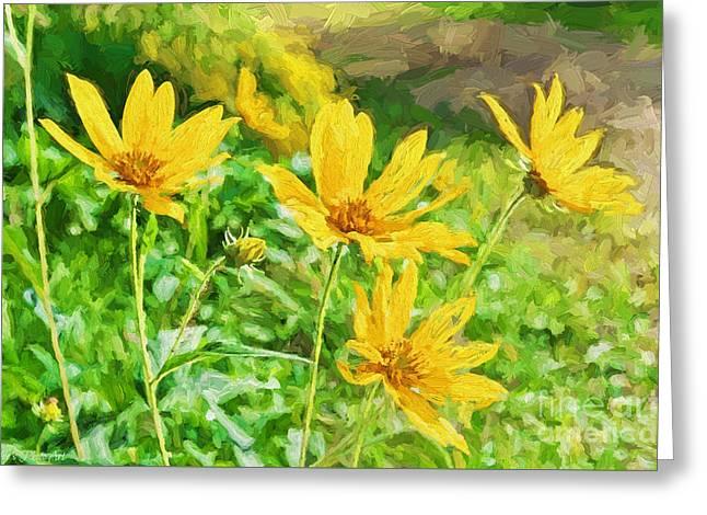 Summer Yellow Wldflowers IIi Greeting Card