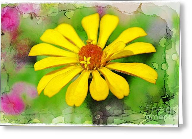 Summer Zinnia  Greeting Card