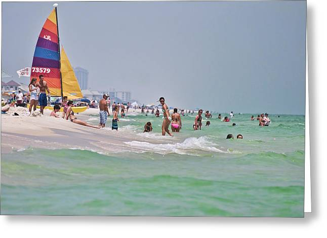Summers Day On Pensacola Beach Greeting Card