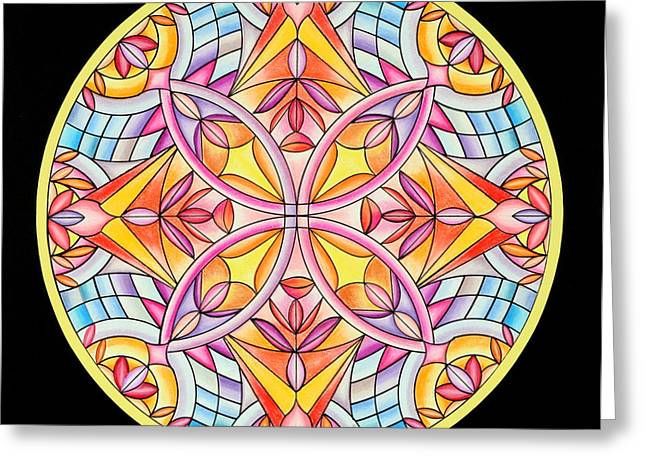 Geometrical Pastels Greeting Cards - Summers Delight Greeting Card by Marcia Lupo