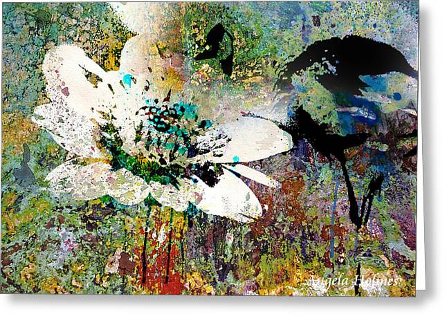 Summers Garden Greeting Card by Angela Holmes