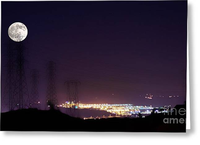 Summer's Night In The Valley Greeting Card by Clayton Bruster