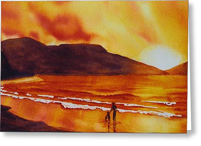 Summers-sunset Greeting Card by Nancy Newman