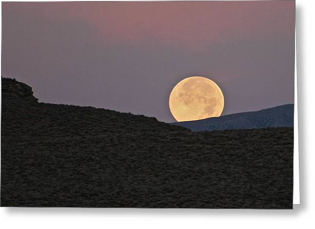 Summers Super Moon Greeting Card
