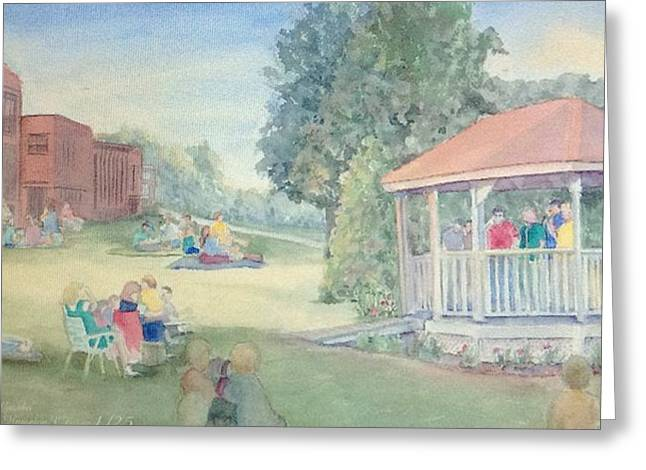 Summertime At The Gazebo 2 Greeting Card by Katherine  Berlin
