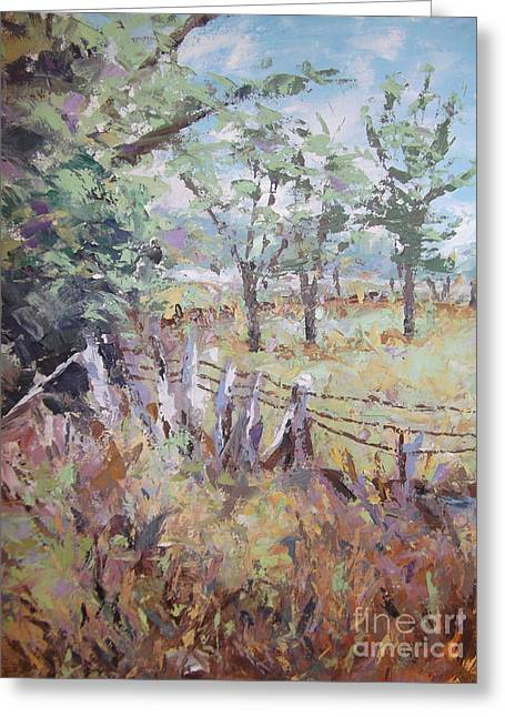Greeting Card featuring the painting Summertime by Cynthia Parsons