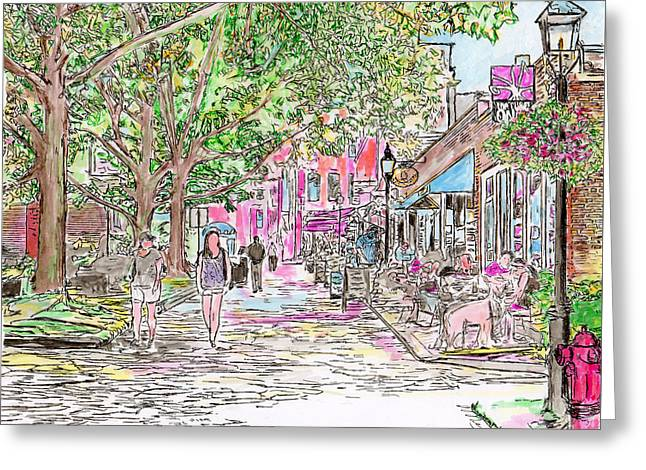 Summertime In Newburyport, Massachusetts Greeting Card