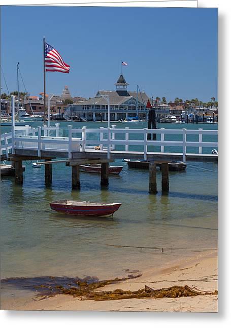 Summertime In  Newport Beach Harbor Greeting Card