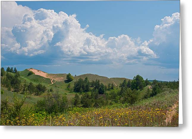 Summertime In The Grand Sable Dunes Greeting Card