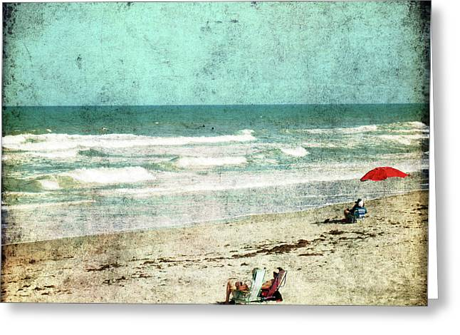 People At The Beach Greeting Cards - Summertime... Greeting Card by Susanne Van Hulst